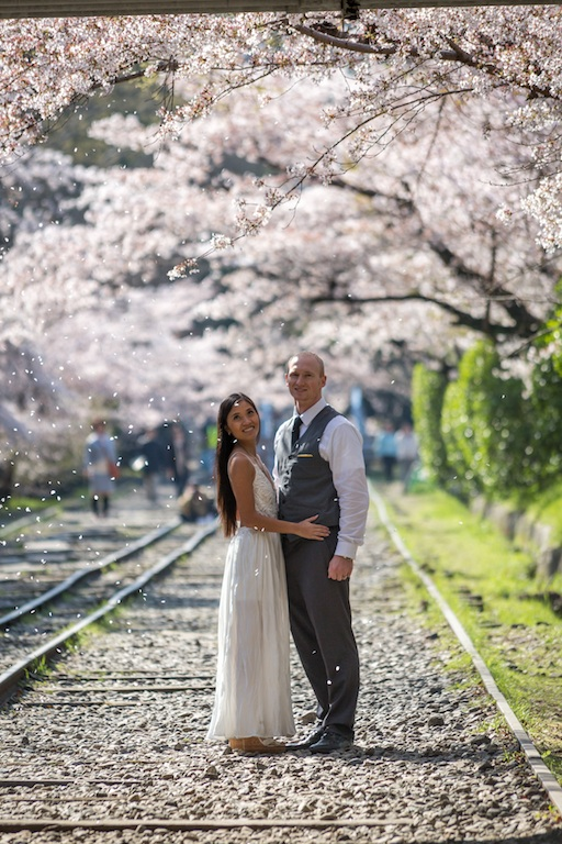 Cherry Blossoms at the abandoned railroad near Nanzenji Shrine, Kyoto Japan